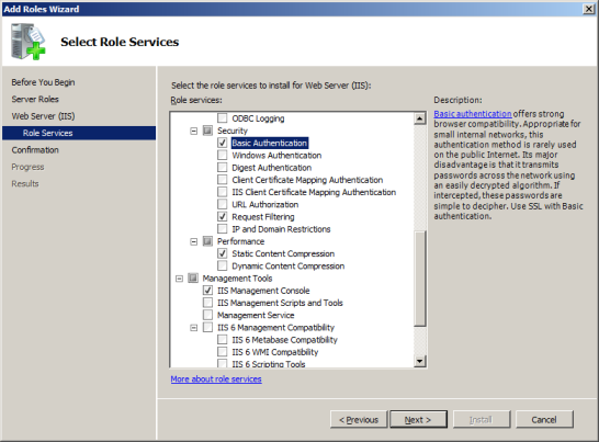 LANDESK MOBILITY MANAGER 8. On the Add role services required dialog, click Add Required Role Services. 9.