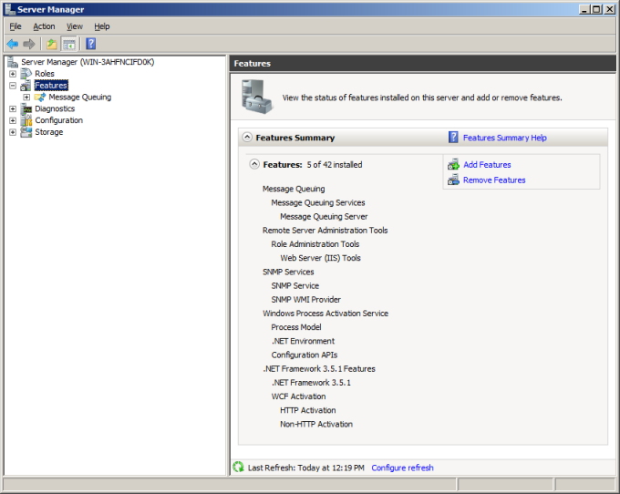 LANDESK MOBILITY MANAGER 2. In Server Manager, click Features. 3.