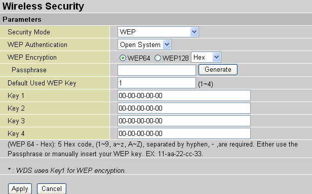 WEP WEP Encryption: To prevent unauthorized wireless stations from accessing data transmitted over the network, the router offers highly secure data encryption, known as WEP.