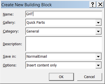 Quick Parts Quick Parts is a feature that s found in Outlook and Word 2010. If you use blocks of text, links or images repeatedly in your emails, then Quick Parts can save you a lot of typing.