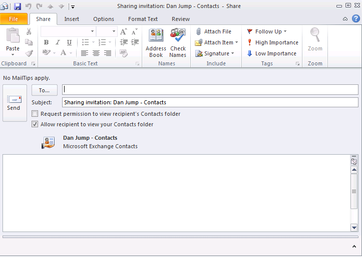 Performing Advanced Contacts Functions In addition to the common functions you perform in Office Outlook 2010, you can also perform advanced contact functions.