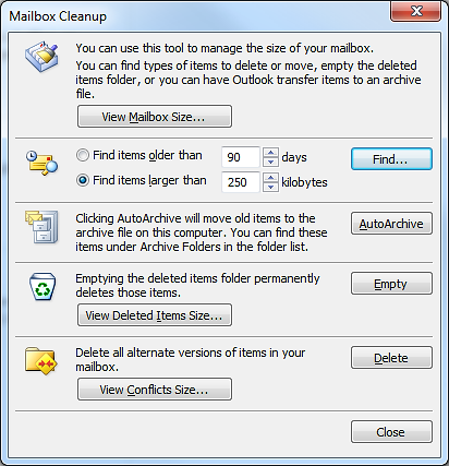 KEEPING YOUR MAILBOX TIDY In no time at all a mailbox can become quite full of items. Most people use some way of organising their emails so they can work more efficiently.