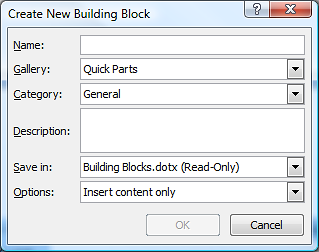WHAT ARE QUICK PARTS? Quick parts enable a user to reuse parts of text, pictures or other content again and again. It can save time typing and is quick to use.
