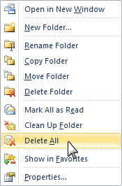 Unfortunately, nowadays everybody needs a Junk Mail folder. Cleaning this folder is nearly as quick as emptying the Deleted Items folder.