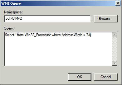 Build a WMI Filter for x64 Computers This section only applies if you are deploying the Add-In to a mixture of 32-bit and 64-bit computers and is required for the group policy to identify the correct
