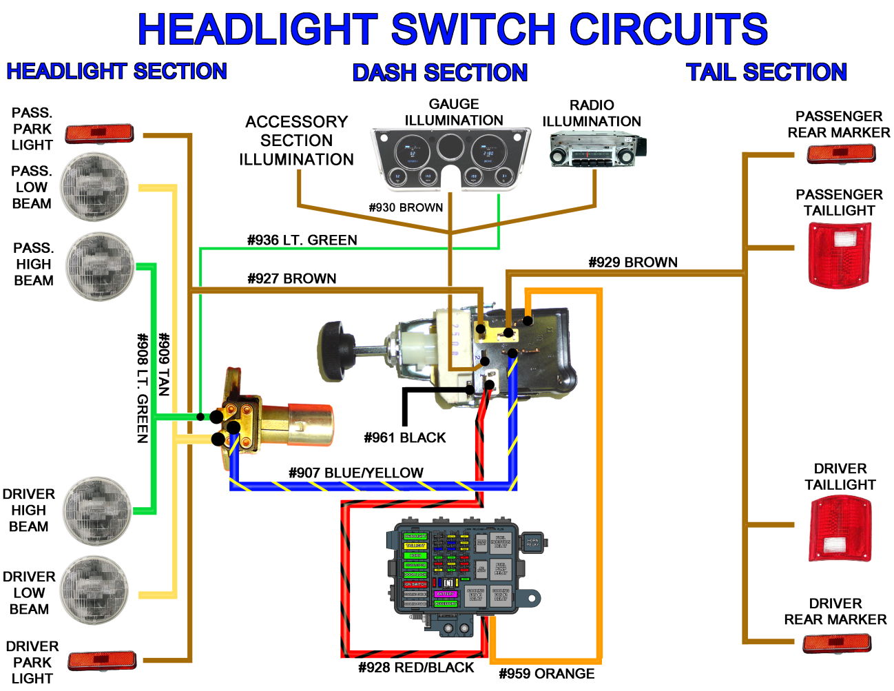 universal headlight switch wiring diagram 6 0 ford