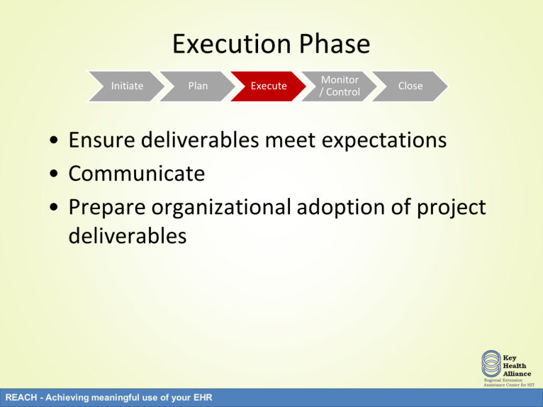 Once the project scope, budget, and schedule plans are underway, the project can move to the execution phase. In this phase, the project plans are carried out.