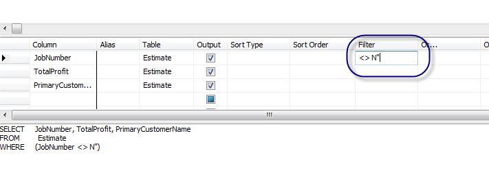1.4: Refining Queries Using Microsoft SQL Server Management Studio While our query has eliminated the data in the table that we did not need, it occurs to us that our query is displaying profit