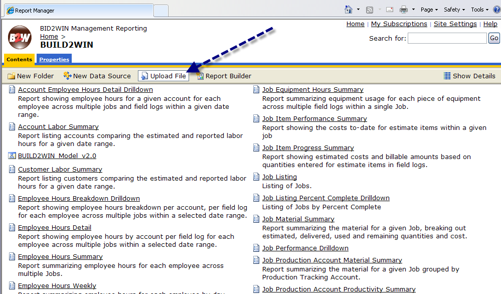 3.5: Uploading New Reports to Report Manager Once you have completed your report, you will want to upload it to Report Manager so will be available