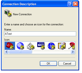 Find and start the program. 2. Select a Connection Name and press OK.