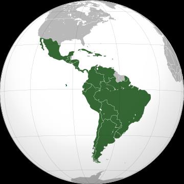 Latinamerica and Caribean countries 19 Countries. 597,526,000 pop.