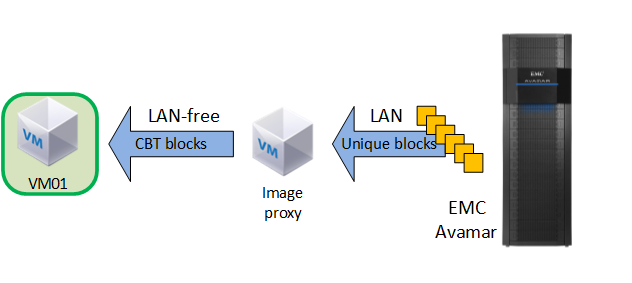 Chapter 3: Protection Architecture and Design In providing image-based backup functionality, the Avamar system integrates with VMware vsphere Storage APIs Data Protection, a feature set within the