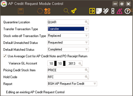 Greentree Configuration Complete this process before moving on to App Configuration. 1. Select the menu item System Accounts Payable AP Credit Request Status Definition 2.