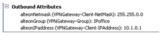 Configuring the Avaya VPN Gateway Radius servers evaluate the inbound attributes using authorization rules.