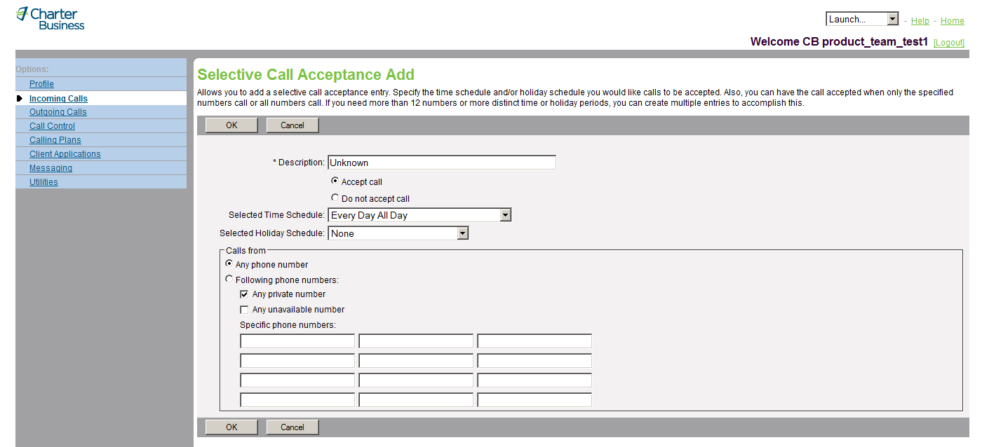 3.16.2 Add a Selective Acceptance Entry Use this procedure to add a Selective Acceptance entry.