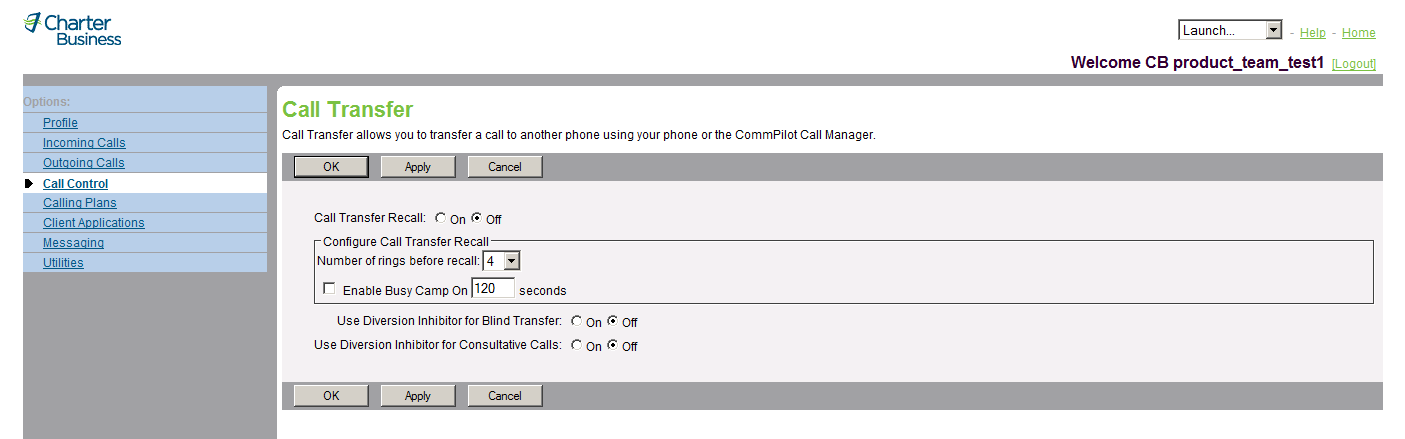 The Flash Call Hold service allows you to hold a call at a phone with no Hold button. Figure 64 Call Control Flash Call Hold 1) On the User Call Control menu page, click Flash Call Hold.