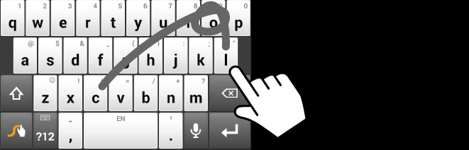 Swype Keyboard Overview Note: Key appearance may vary