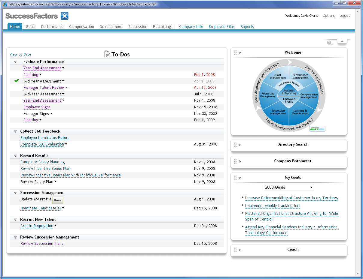 Getting Started with Reports Access the online performance management system using your Web Browser.