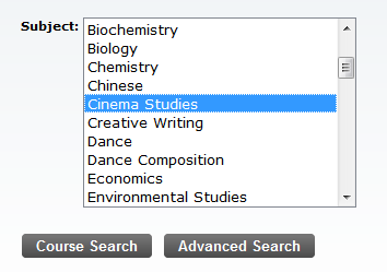 If you need to search for classes, click Class Search at the bottom of the worksheet. Class Search After clicking on Class search, you can look up classes by subject.