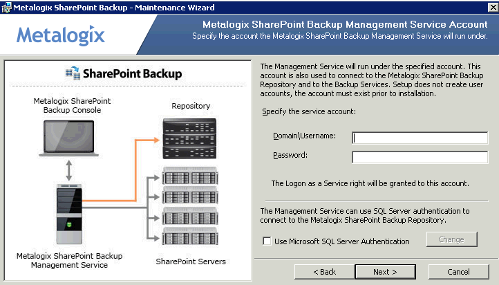 4. The Metalogix SharePoint Backup installation wizard will open to the welcome page, click Next. 5.