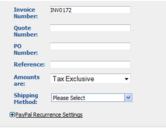 Invoice Number - Invoice number automatically generated from Accounting Settings, Invoice Settings. Define your own numbering standards in Invoice Settings.