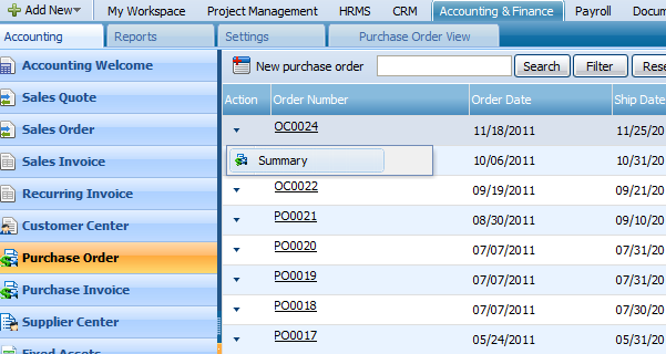PURCHASE INVOICE You can record the invoices received by your suppliers in by creating new purchase invoice and adding purchase items in the invoice lines.