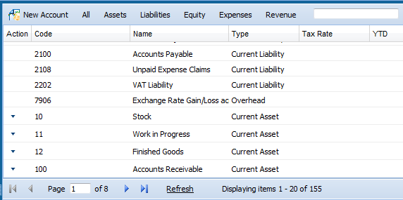 View All Statements To view the statements, please go to Bank Accounts section and click on the View All Statement through the Actions List: CHART OF ACCOUNTS Your Chart of Accounts is a list of