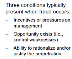 How and Why Fraud Occurs Medical bills Incentive / Pressure Fraud Triangle Opportunity No one ever counts the