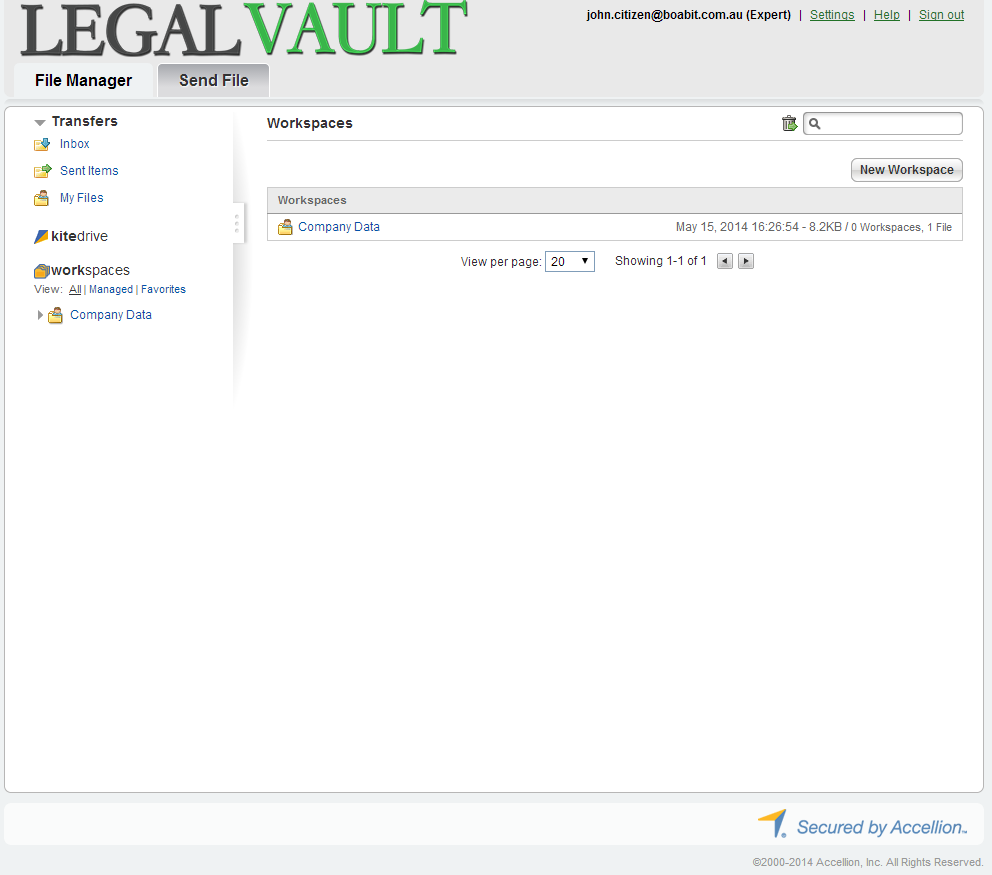 Legal Vault Web Portal As well as being able to access your Legal Vault files from your computer (using KiteDrive) and on mobile devices, you can also view (and manage) your files from within a web