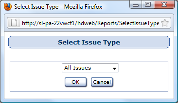 Select Deleted Issues To Be Reported Window Reports used in: Deleted Issues First, select the available Users from the Available Users list and use the arrow buttons to move them to the Selected