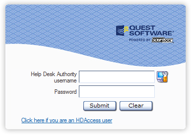 6 Logging into HDAccess When you initially open HDAccess in your web browser, the Requester Login window is displayed.