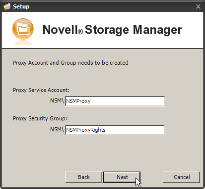 Novell Storage Manager for Active Directory 2.5.2 Installation Guide 12.