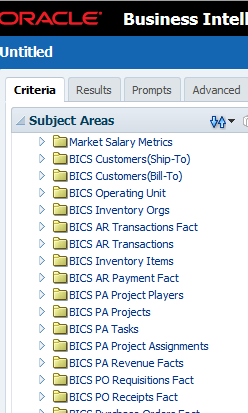 BICS Data Modeler and Answers Create tables in BICS DB