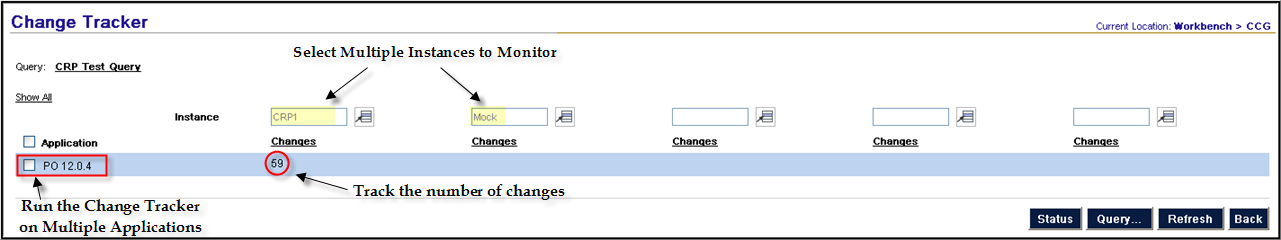 Change Tracking Query a change tracker to identify changes across multiple instances.
