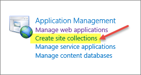 Figure 28: The Create New Web Application Dialog Box 5. After the web application has been created, navigate back to SharePoint Central Administration and click Create site collections.