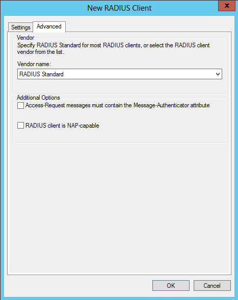 Click OK Create a Network Policy on Windows Server 2012 NPS From the Network Policy Server Console, right click on Network Policies and select New On the