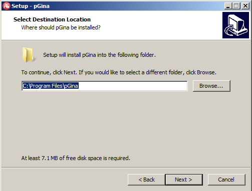 On the Select Destination Location page, click Next On the Select Start Menu