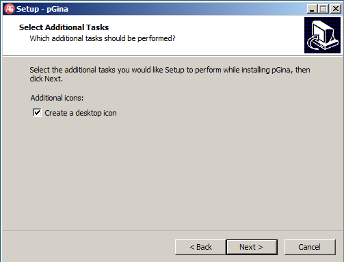 On the Select Additional Tasks page, select Next On the Ready to Install page,