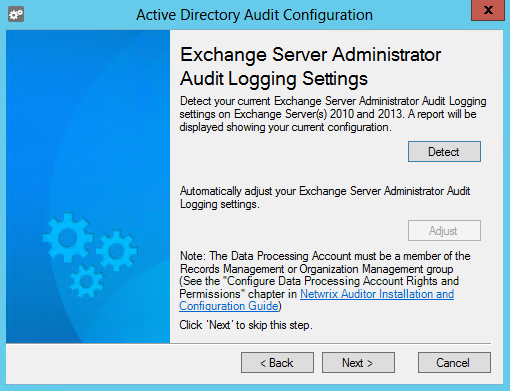 10. Additional Configuration 11. Review your audit settings and complete the wizard. 10.2. Enable Auditing of Active Directory Partitions NOTE: This topic applies to auditing Active Directory only.