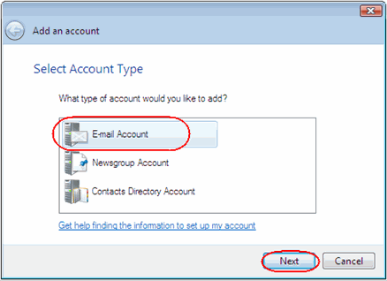 Setting up Windows Live Mail Step 1 Open Windows Live Mail. Click Tools, then Accounts in the drop down menu.