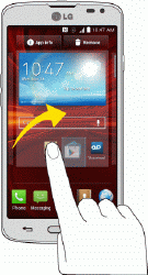 Swipe or Slide To swipe or slide means to quickly drag your finger vertically or horizontally across the screen.