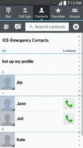 The Contacts List Learn how to view and navigate through your phone s Contacts list. Press >. You will see the Contacts list.