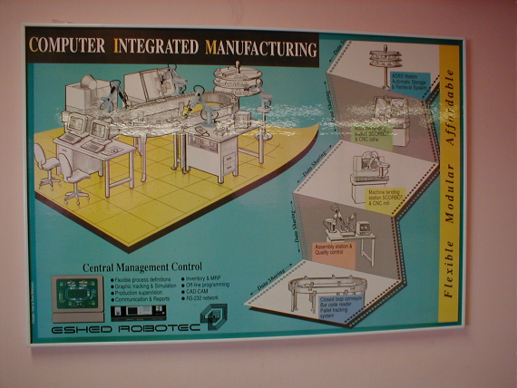 Research Laboratories Computer-Integrated-Manufacturing A semi-industrial manufacturing facility including an FMS, AS\RS, conveyer and a robot farm all managed and monitored by workstations