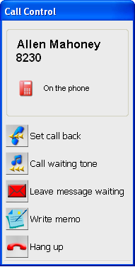 3.2 Operations while calling Operations while calling (3) When the extension is busy: Make a call Set call back