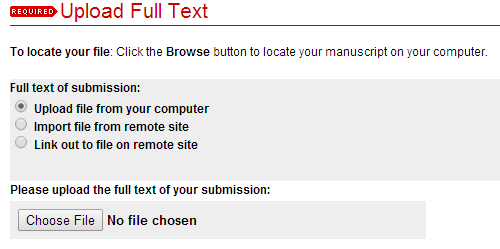 o. Click the button for Upload file from your computer. Then click on Choose File and locate the document for your culminating project on your computer or drive, and select.
