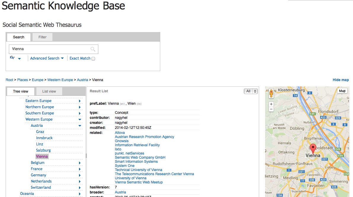 Semantic Knowledge Base Browse your knowledge graphs The Semantic Knowledge Base web part allows to browse a semantic knowledge graph or an enterprise