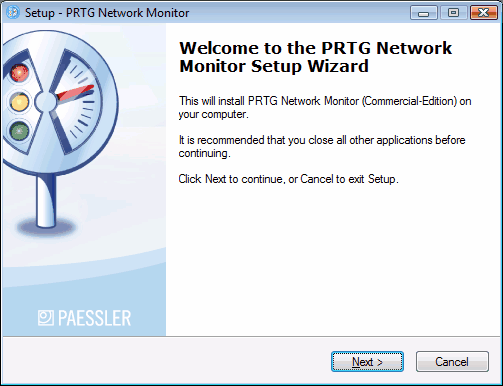 10 2.3 PRTG Network Monitor 7.1 - User Manual Installation of a PRTG Core Server Installing the software is similar to other Windows-based applications.