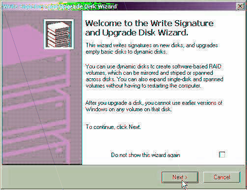 1. Open Control panel, Administrative Tools and Computer management. 2. Click on Disk Management.