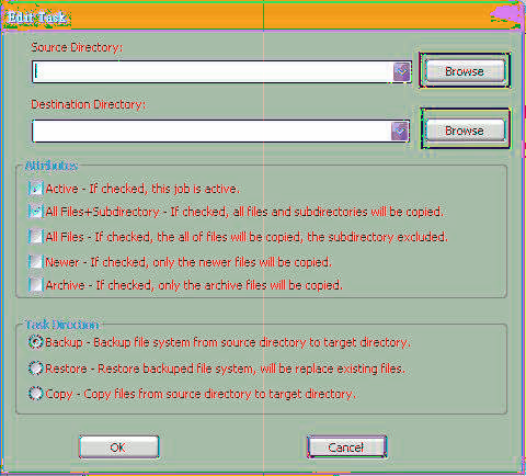 Example of a backup task Step 1 1.