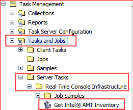Exercise 1: Use OOB Management to Track Inventory OOB management allows you to define a Task Server task that will obtain Intel AMT hardware inventory.